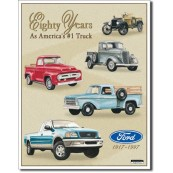 Plaque métal Ford Trucks 80 years