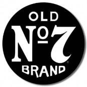 Plaque métal ronde Jack Daniel's N°7
