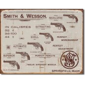 Plaque  Smith & Wesson - Revolvers
