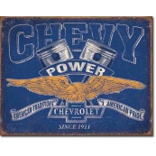 Plaque Chevy Power