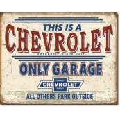 Plaque Chevy Only Garage