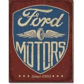 Plaque métal Ford Motors Since 1903