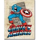 Plaque Déco Capt America Cover Splash