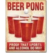 Plaque Métal Beer Pong