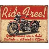 Plaque Métal Déco Ride Free