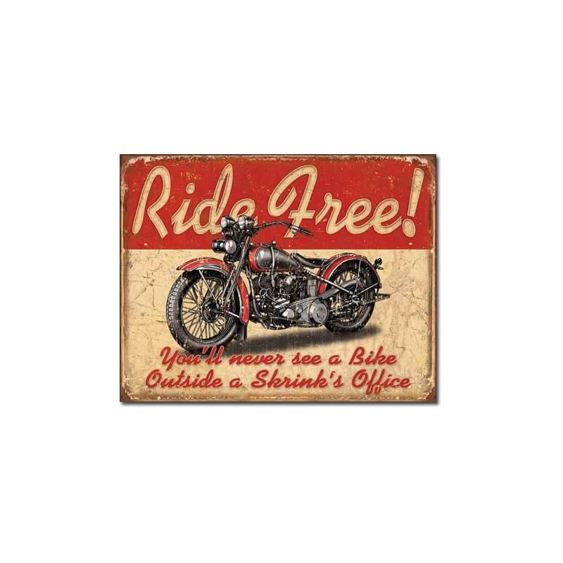 plaque m tal d co ride free d co am ricaine us way of life. Black Bedroom Furniture Sets. Home Design Ideas