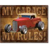 Plaque métal My Garage - ROD