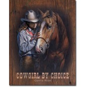 Plaque déco Cowgirl by Choice