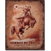 Plaque Cowboy by Choice Saddle Bronc