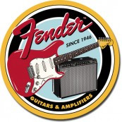 Plaque Fender ronde guitars & amplifiers