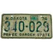 Plaque d'immatriculation vintage North Dakota