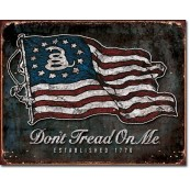 Plaque déco DTOM - Vintage Flag