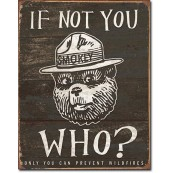 Plaque Smokey Bear - If Not You