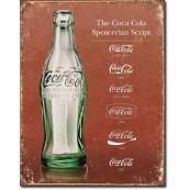 Plaque coca cola - Script Heritage