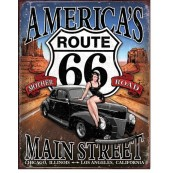 Plaque Route 66 - America's Main Street