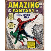 Plaque Spider Man Comic Cover