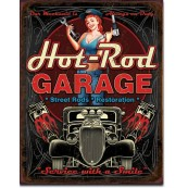 Plaque déco Hot Rod Garage Pistons