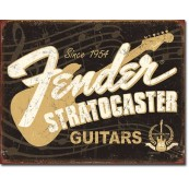 Plaque déco Fender Stratocaster 60th
