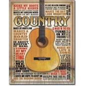 Plaque Country - Made in America