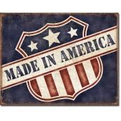 Plaque métal Made in America
