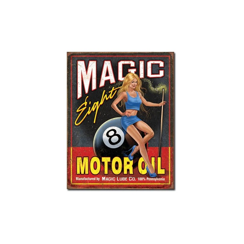 Plaque Magic Eight Motor Oil D Co Pin Up Us Way Of Life