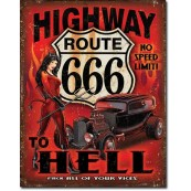 Plaque Route 666 - Highway to Hell