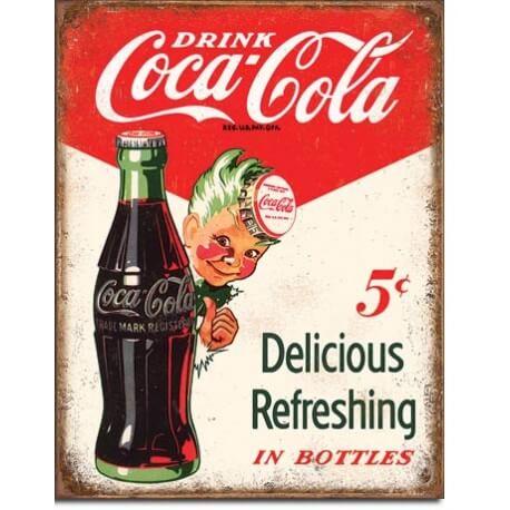 plaque coca cola vintage sprite boy 5 cents us way of life. Black Bedroom Furniture Sets. Home Design Ideas