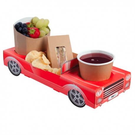 bo te repas en carton voiture rouge menu enfant us way. Black Bedroom Furniture Sets. Home Design Ideas
