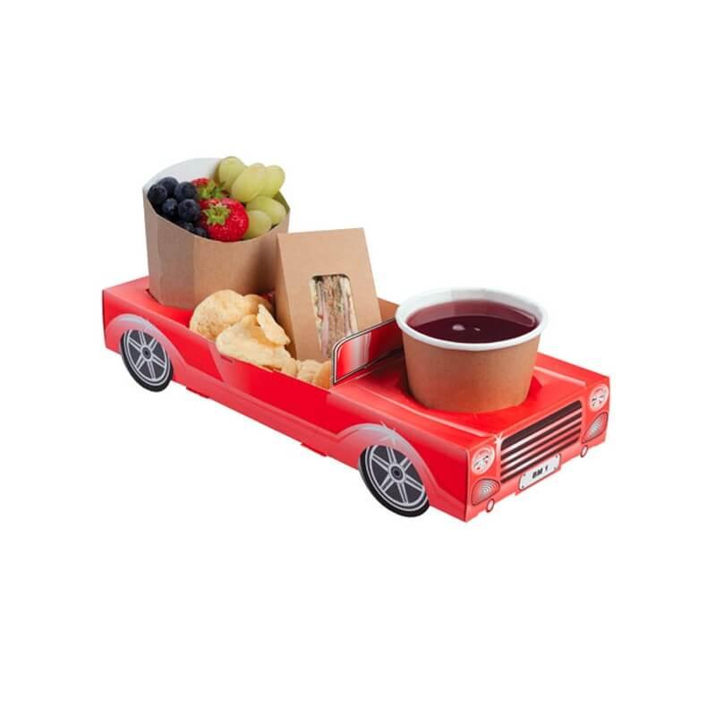 bo te repas en carton voiture rouge menu enfant us way of life. Black Bedroom Furniture Sets. Home Design Ideas