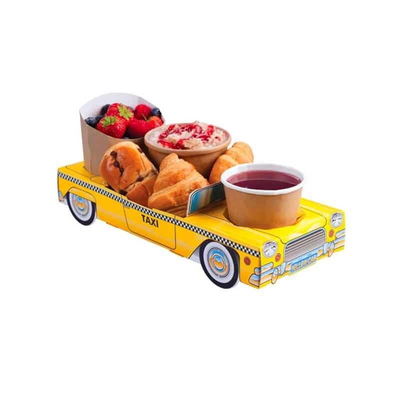 bo te repas en carton yellow taxi cab menu enfant us way of life. Black Bedroom Furniture Sets. Home Design Ideas