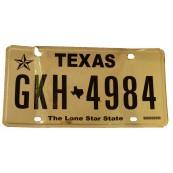 Plaque d'immatriculation Etat du Texas