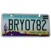 Plaque immatriculation Arizona