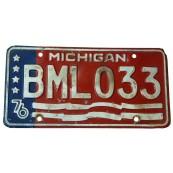 Plaque d'immatriculation Américaine collection Etat du Michigan