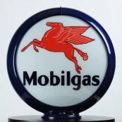 Globe de pompe à essence Opaline Mobilgas