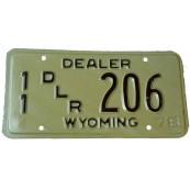Plaque Américaine Wyoming