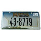 Plaque d'immatriculation Américaine collection Etat du Montana