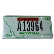 Plaque minéralogique Etat du Montana