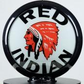 Globe de pompe à essence Opaline Indian Motor