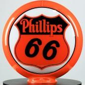 Globe de pompe à essence Opaline Phillips 66
