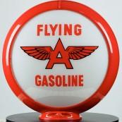 Globe de pompe à essence Opaline Flying A