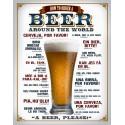 """Plaque publicitaire métal """"Order a Beer"""""""