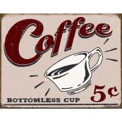 Plaque publicitaire métal Coffee