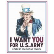 """Plaque publicitaire métal """"Uncle Sam"""""""