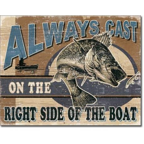 """Plaque publicitaire métal """"Always cast"""""""