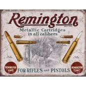 """Plaque publicitaire métal """"Remington"""""""