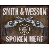 """Plaque publicitaire métal """"Smith et Wesson"""""""