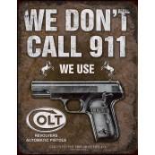"""Plaque publicitaire métal """"Colt 911"""""""