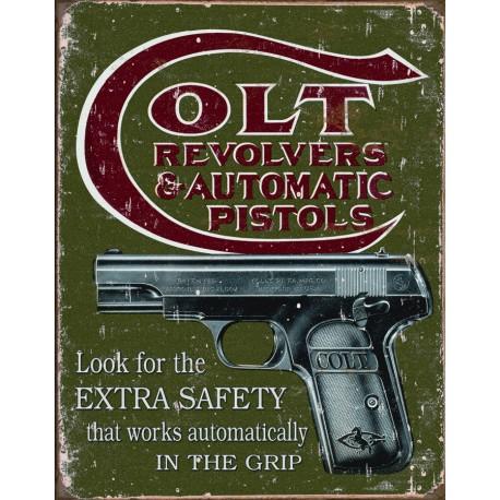 plaque publicitaire colt automatic pistols us way of life. Black Bedroom Furniture Sets. Home Design Ideas