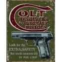 """Plaque publicitaire métal """"Colt automatic pistols"""""""