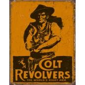 """Plaque publicitaire métal """"Colt Revolvers"""""""